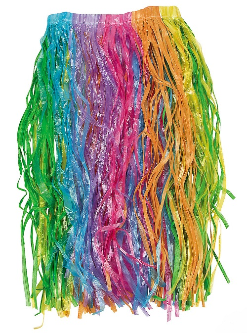 Adult's Rainbow Grass Hula Skirt