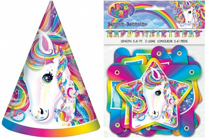 Lisa Frank party decorations
