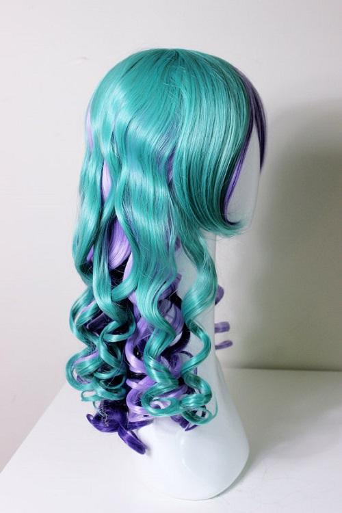 Long rainbow mermaid wig