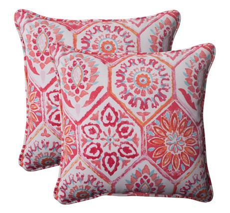 Decorative outdoor throw pillows