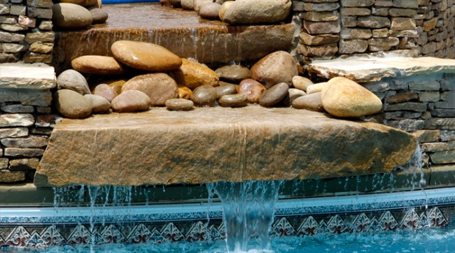 Waterfall for pool or back yard