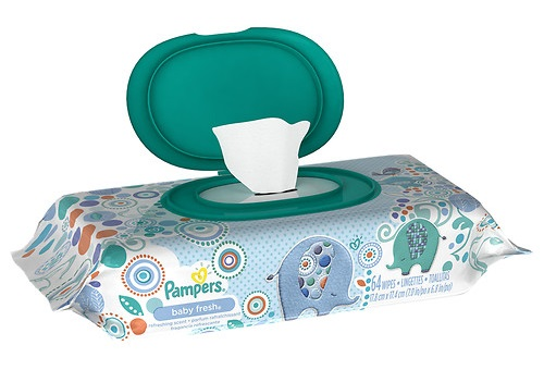 Pampers travel wipes
