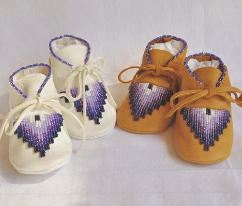 Authentic Native Made baby moccasins
