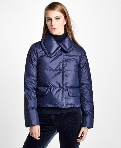 Blue Cropped Puffer Jacket