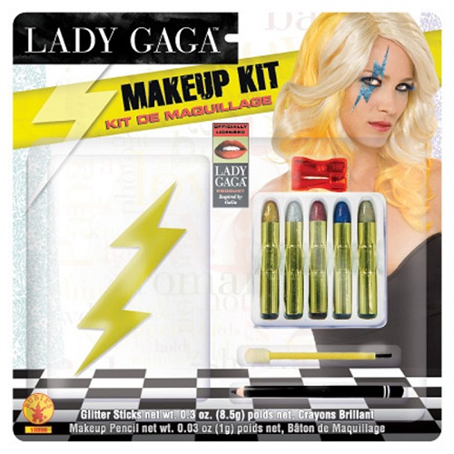 Lady Gaga Womens Halloween Lightning Bolt Makeup kit