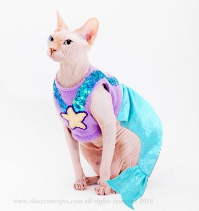 Mermaid Cat Costume