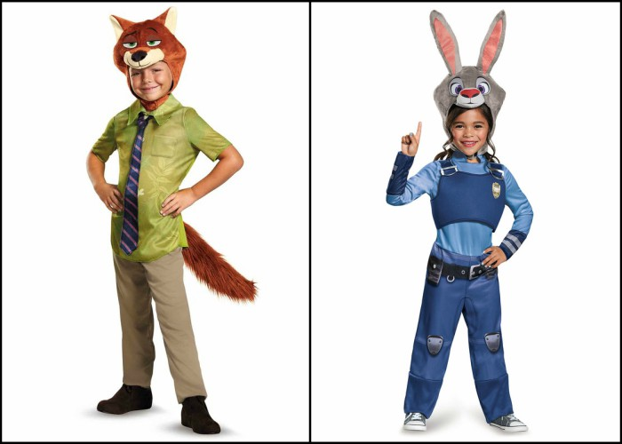 Zootopia kids Halloween costumes