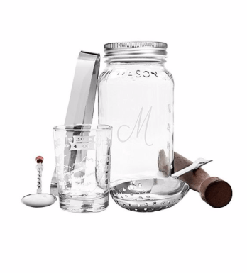 Cathy's Concepts Personalized Mason Jar Mixology Set