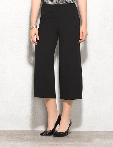 black goucho pants