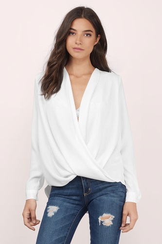 white surplice blouse