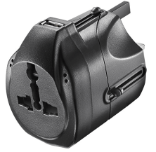 Insignia™ - Travel Power Adapter - Black