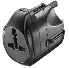 Insignia™ - Travel Power Adapter - Black