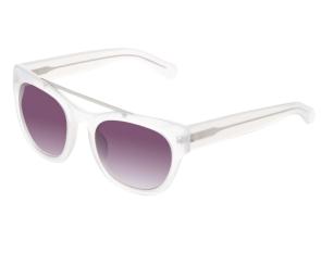 Erdem Oval Brow Bar Frame Sunglasses