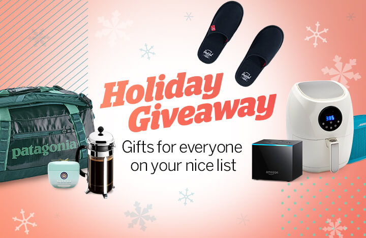 Facebook Live Giveaway: Gifts for Everyone on Your Nice List