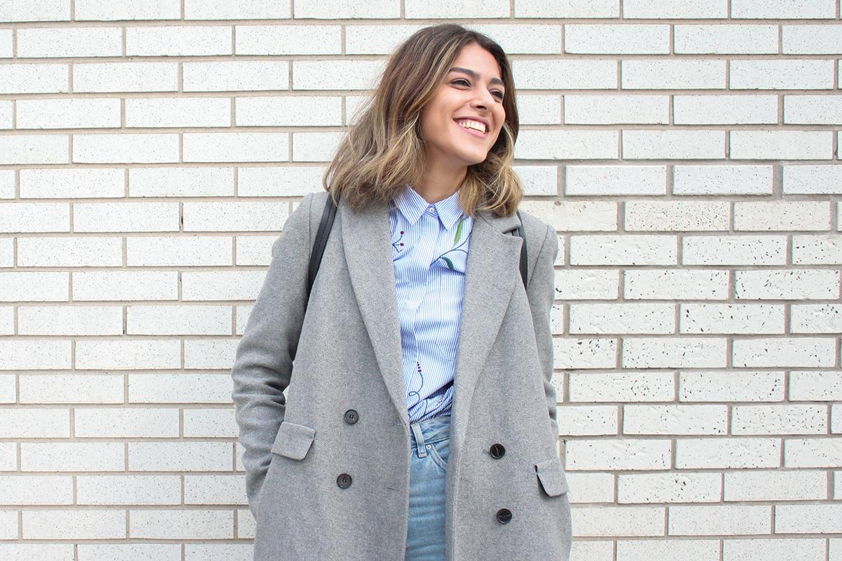 Woman wearing a coat