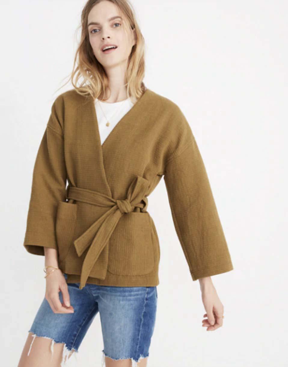 Madewell Texture & Thread Wrap Jacket