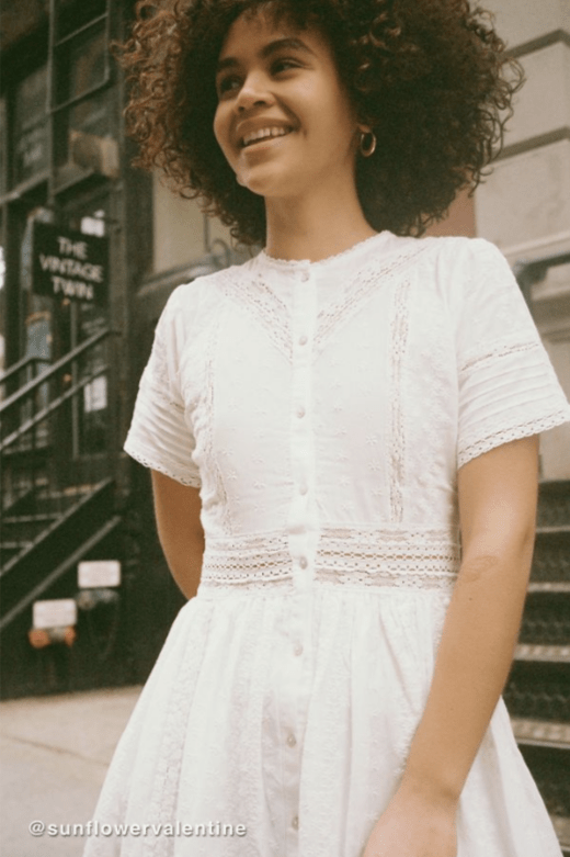 Urban Outfitters Victoria Eyelet Button-Front Midi Dress