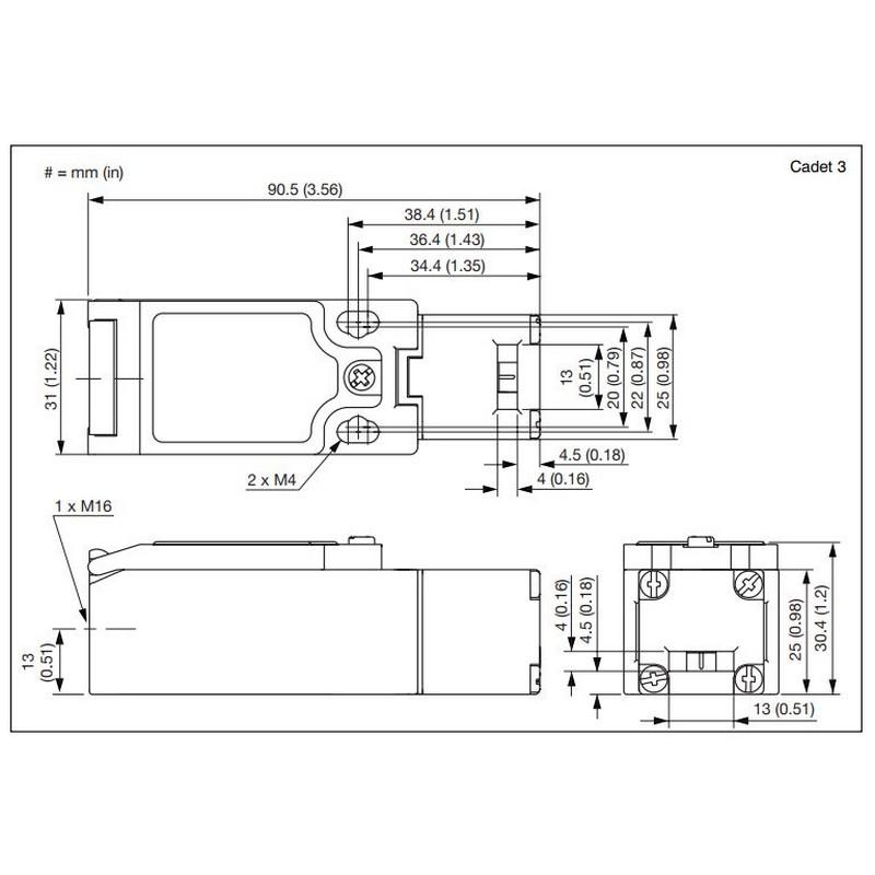 Allen Bradley Cadet3 440K-C21061 Safety Interlock Switch