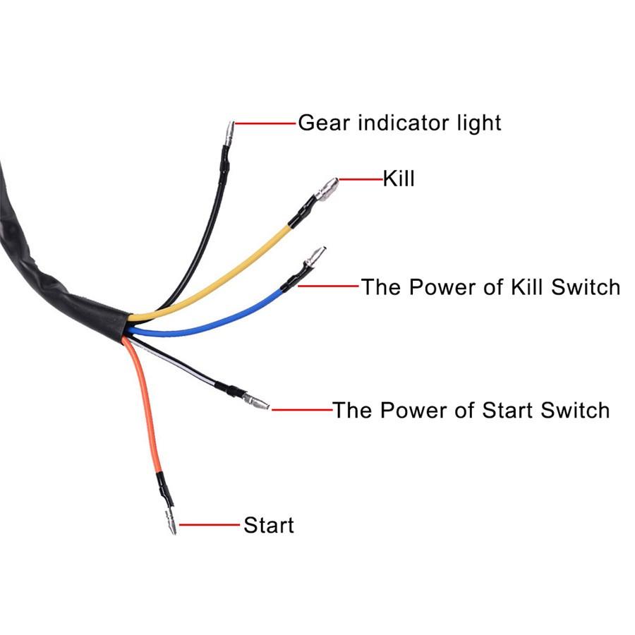 medium resolution of 22mm 12v motorcycle handlebar handle on off power start kill push button switch