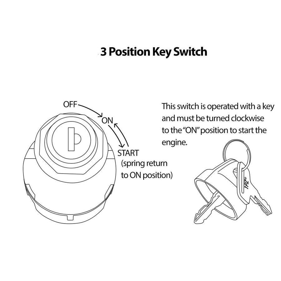 For Polaris Motorcycle ATV 6 Pin Ignition Key Switch 3
