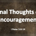 Final Thoughts of Encouragement (cont)