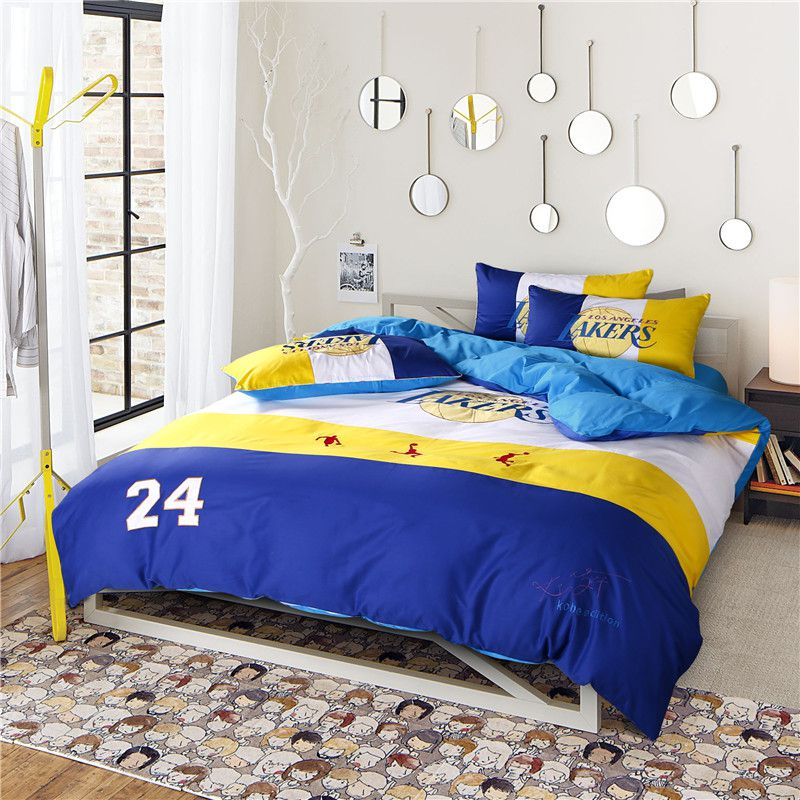 sofa cushions without covers custom seattle los angeles lakers basketball bedding set | ebeddingsets
