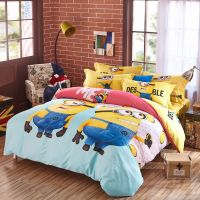 Minion bed set Queen King Twin size