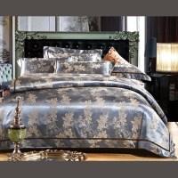 Luxury Blue Comforter Bed Set