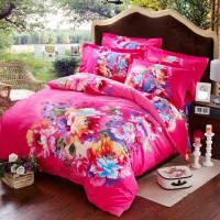 Pink Rose Print Comforter Sets | EBeddingSets