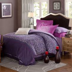 Cotton Sofa Bed Sheets Melanie Bobs Furniture Violet & Purple Floral Print Comforter Sets | Ebeddingsets