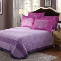 Violet & Purple Floral Print Comforter Sets