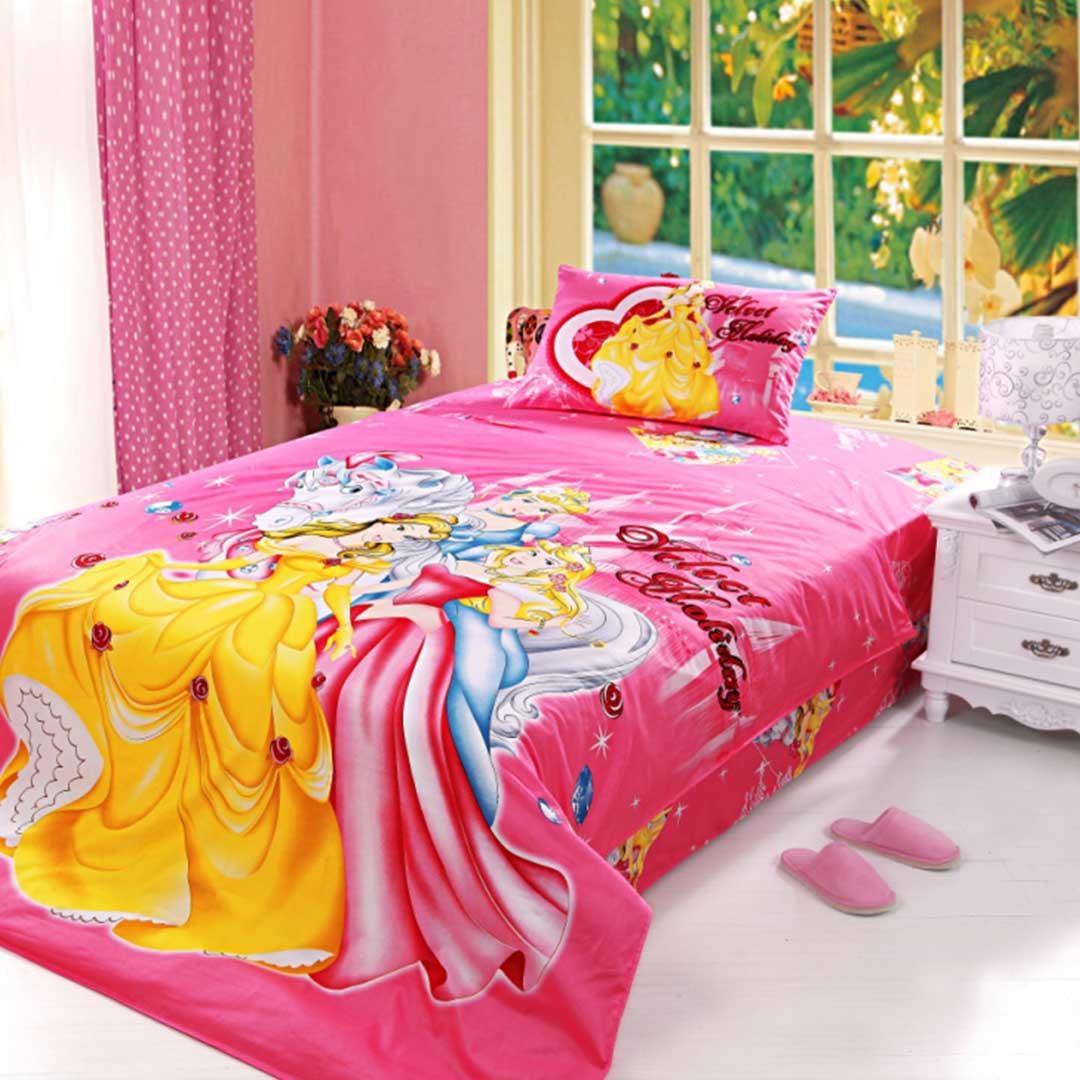 Little Girls Bedding Set 4pcs Twin Size  EBeddingSets