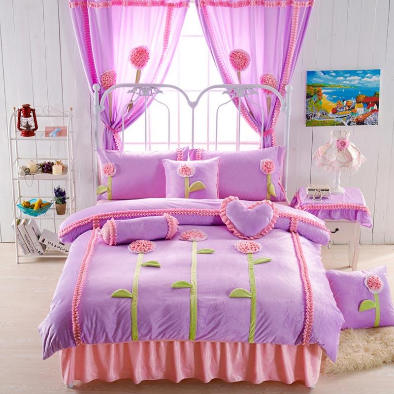 Teen Girl Bedding Set Velvet Fabric