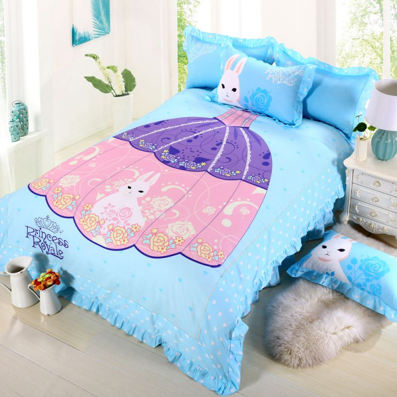 Princess Rivals Teenage Girls Blue Bed Set