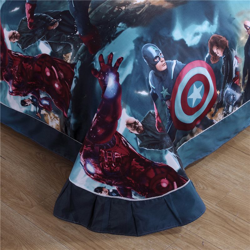 captain america table and chair set for kids superhero bedding teen boys bedroom | ebeddingsets
