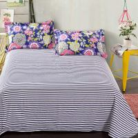 Charming Navy Blue Floral Cotton Bedding Set | EBeddingSets