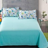 Pretty White And Blue Floral Cotton Bedding Set | EBeddingSets