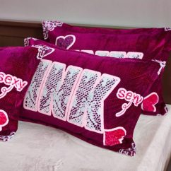 Pink Velvet Sofa Cover Throw Blanket Cotton Victoria Secret Model 2 - Queen Size ...
