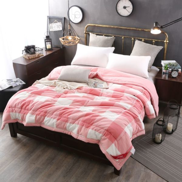 72 sofa cover kiln dried light pink striped washed cotton comforter | ebeddingsets