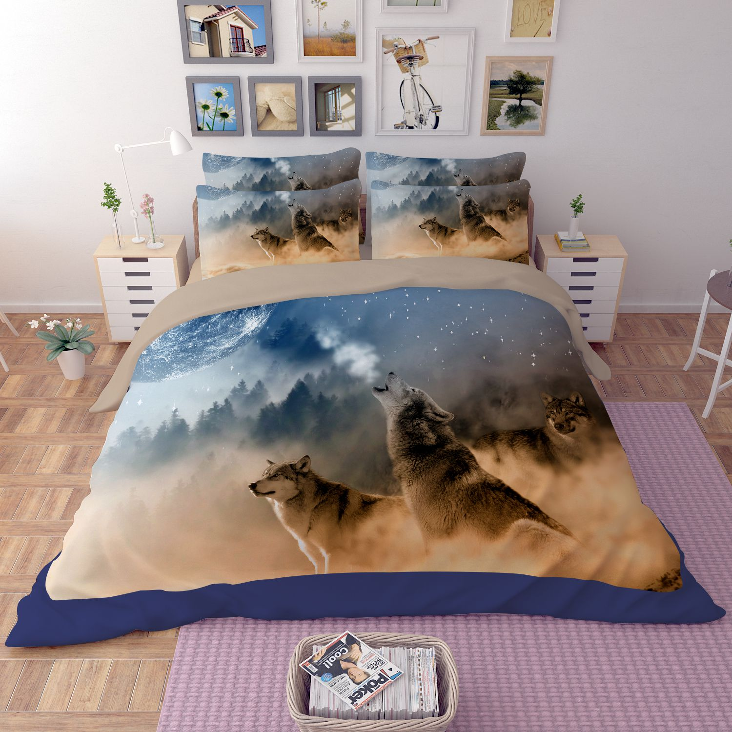 fast table chair victorian and chairs 3d white wolves printed bedding set | ebeddingsets