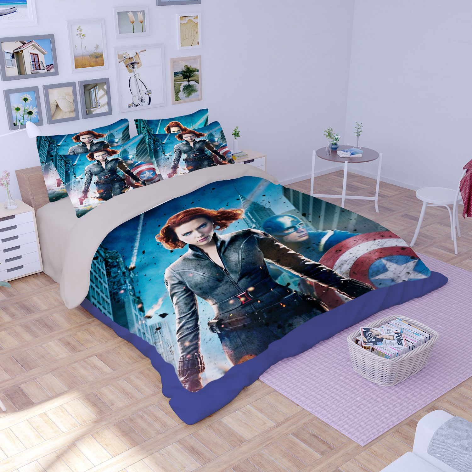 captain america table and chair set leather bergere ottoman black widow bedding ebeddingsets