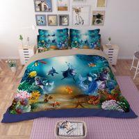 Ocean Underwater World Dolphin Coral Bedding Set ...