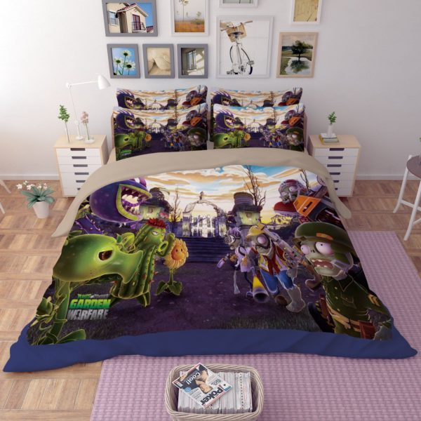 disney table and chair set hanging bubble with stand plant vs zombie garden warfare bedding | ebeddingsets