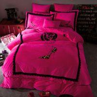 Victoria's Secret Velvet Warm Lace Embroidery Bedding Set ...