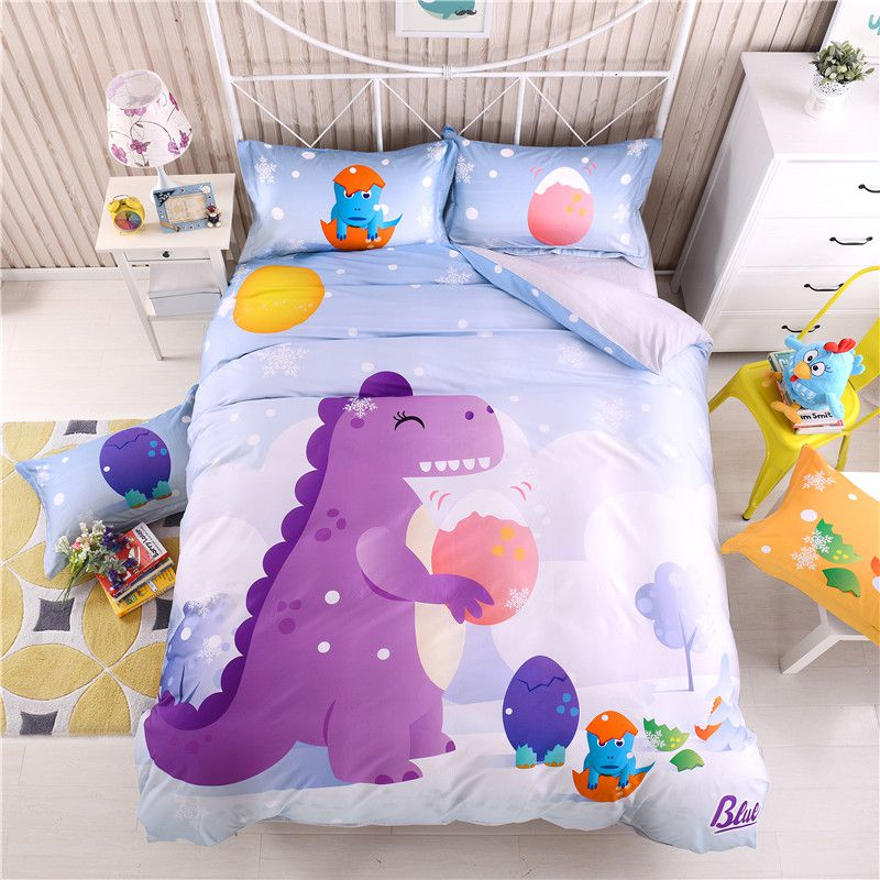 3D Dinosaur Print Bedding Set Twin Queen Size BWL