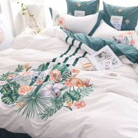 Delightful Flower Themed Embroidery Bedding Set   EBeddingSets