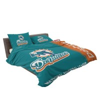 Buy NFL Miami Dolphins Bedding Comforter Set | Up to 50% Off