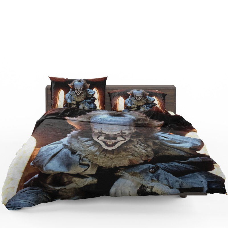 chair covers material olive green accent bill skarsgard pennywise clown it bedding set | ebeddingsets