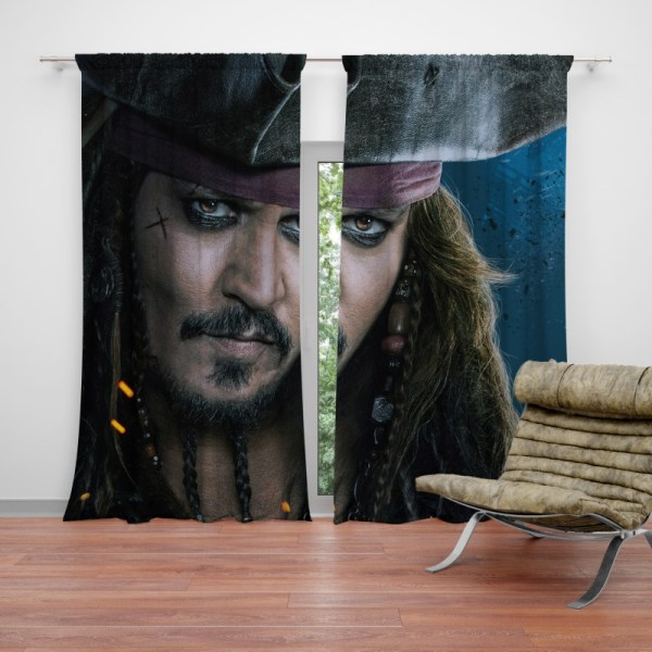 Captain Jack Sparrow Johnny Depp Curtain Ebeddingsets