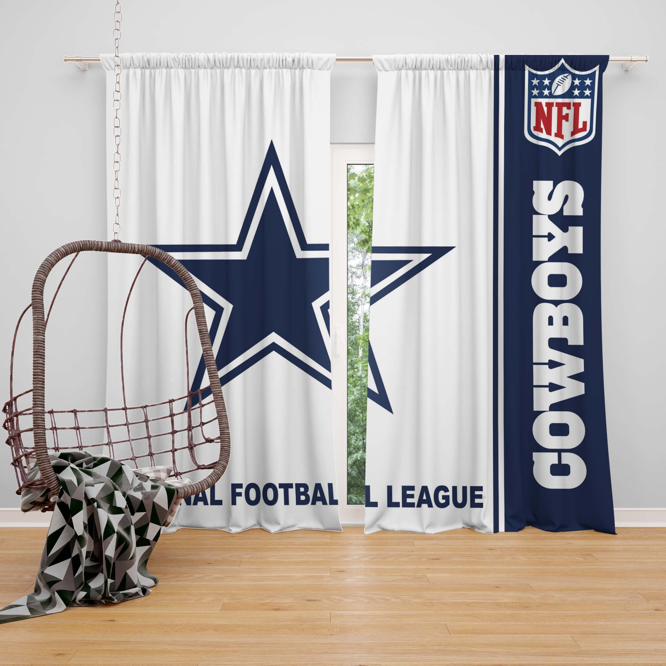 Nfl Dallas Cowboys Bedroom Curtain